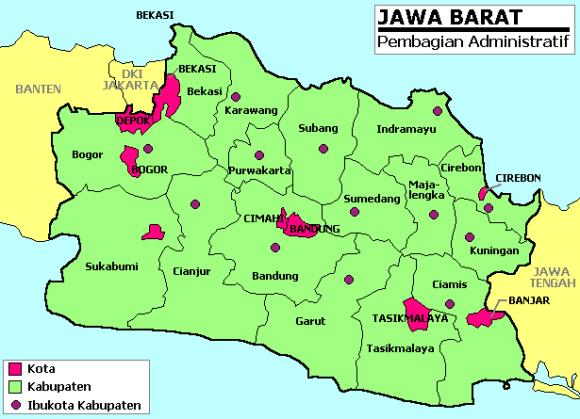 Peta Jawa Barat Lengkap Dengan Daftar 18 Kabupaten dan 9 Kota.png